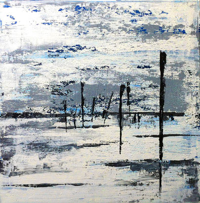 Strand II, 40 x 40 cm, Acryl/ Mischtechnik