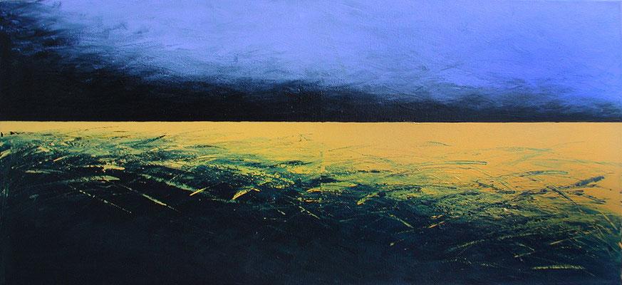 Was bleibt ..., 140 x 50 cm, Acryl