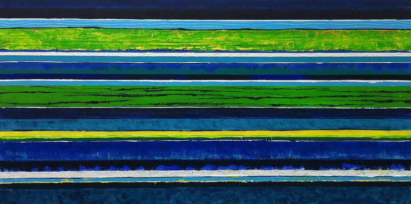Streifen, 140 x 70 cm, Acryl/ Mischtechnik