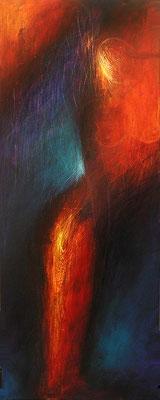 Herbstzeitlose, 50 x 140 cm, Acryl