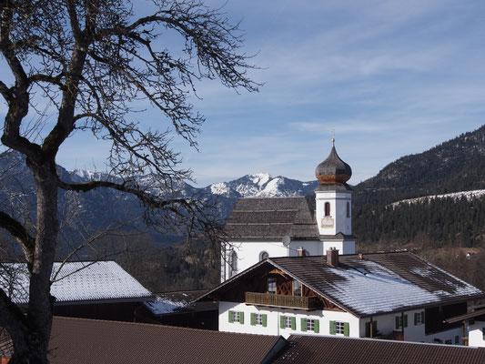 Die Kirche von Wamberg - leider abgeschlossen