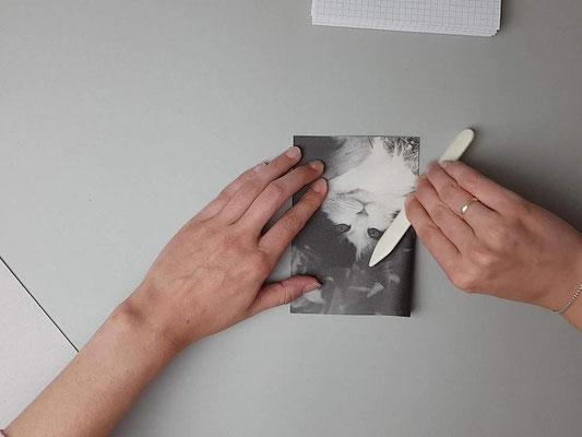 Umschlag mittig falzen