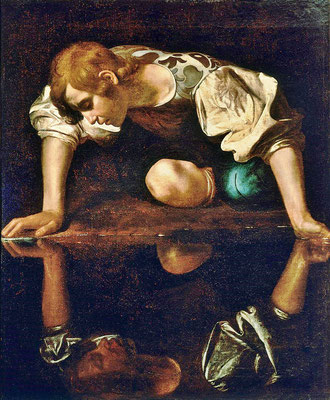 Narzissus - Caravaggio (Foto: CC0) - Praxis für Psychotherapie, Barbara Schlemmer, Dipl. Psychologin