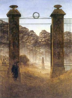 Friedhofseingang - Caspar David Friedrich (Foto: CC0) - Praxis für Psychotherapie, Barbara Schlemmer, Dipl. Psychologin