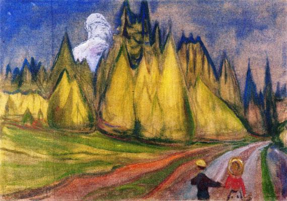 Zwei Kinder auf dem Weg in den Wald - Edvard Munch (Foto: CC0) - Praxis für Psychotherapie, Barbara Schlemmer, Dipl. Psychologin