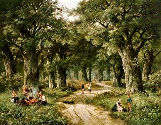 Wald mit Feuerstelle - Hendrik Barend Koekkoek (Foto: CC0) - Praxis für Psychotherapie, Barbara Schlemmer, Dipl. Psychologin