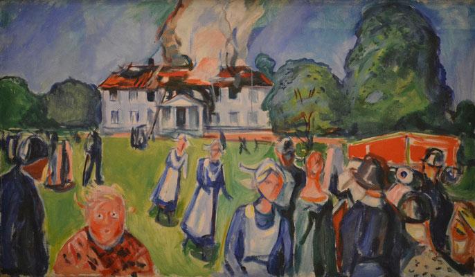 Brennendes Haus - Edvard Munch (Foto: CC0) - Praxis für Psychotherapie, Barbara Schlemmer, Dipl. Psychologin