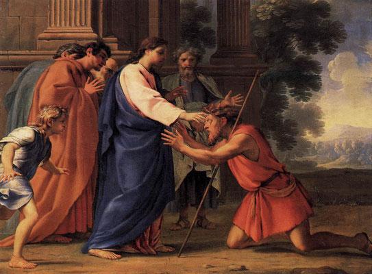 Jesus heilt den blinden Mann - Eustache Le Sueur (Foto: CC0) - Praxis für Psychotherapie, Barbara Schlemmer, Dipl. Psychologin