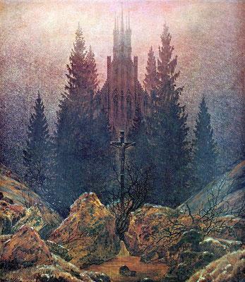 Das Kreuz im Gebirge - Caspar David Friedrich (Foto: CC0) - Praxis für Psychotherapie, Barbara Schlemmer, Dipl. Psychologin