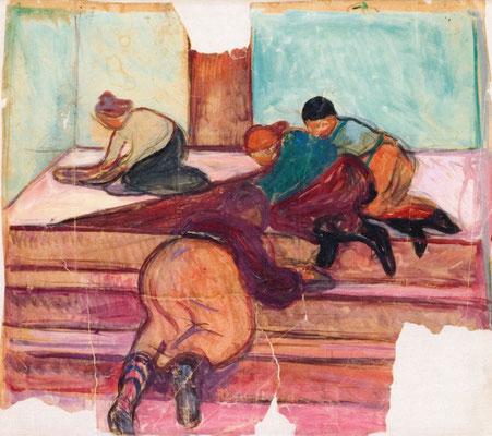 Putzfrauen im Treppenhaus - Edvard Munch (Foto: CC0) - Praxis für Psychotherapie, Barbara Schlemmer, Dipl. Psychologin