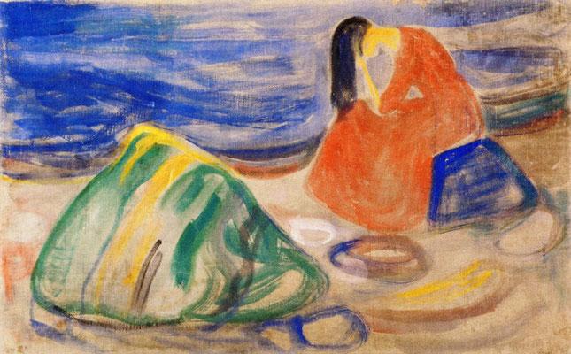 Melancholie - Edvard Munch (Foto: CC0) - Praxis für Psychotherapie, Barbara Schlemmer, Dipl. Psychologin