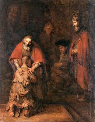 Die Rückkehr des verlorenen Sohnes - Rembrandt van Rijn (Foto: CC0) - Praxis für Psychotherapie, Barbara Schlemmer, Dipl. Psychologin