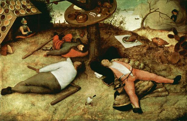 Das Schlaraffenland - Pieter Bruegel der Ältere (Foto: CC0) - Praxis für Psychotherapie, Barbara Schlemmer, Dipl. Psychologin