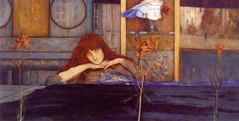 Ich schliesse mich in mich selbst ein - Fernand Khnopff (Foto: CC0) - Praxis für Psychotherapie, Barbara Schlemmer, Dipl. Psychologin