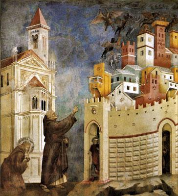 Dämonenaustreibung durch Franziskus in Arezzo - Giotto (Foto: CC0) - Praxis für Psychotherapie, Barbara Schlemmer, Dipl. Psychologin