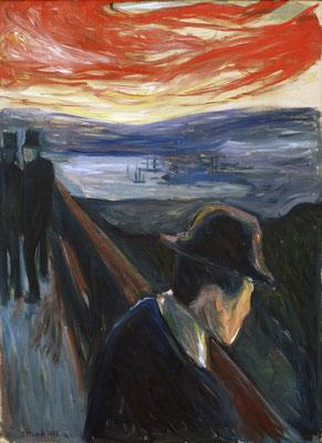 Verzweiflung - Edvard Munch (Foto: CC0) - Praxis für Psychotherapie, Barbara Schlemmer, Dipl. Psychologin