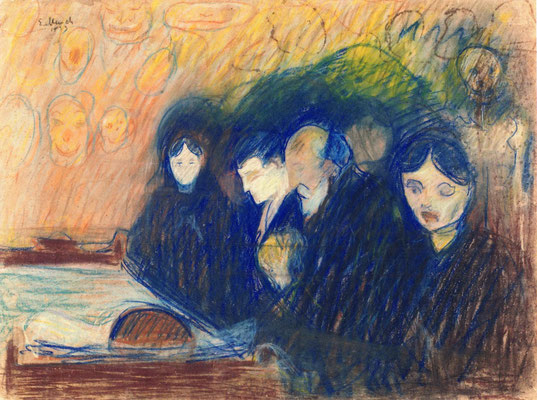 Am Sterbebett (Fieber) - Edvard Munch (Foto: CC0) - Praxis für Psychotherapie, Barbara Schlemmer, Dipl. Psychologin