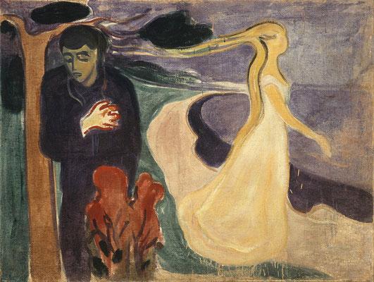 Loslösung (Trennung) - Edvard Munch (Foto: CC0) - Praxis für Psychotherapie, Barbara Schlemmer, Dipl. Psychologin