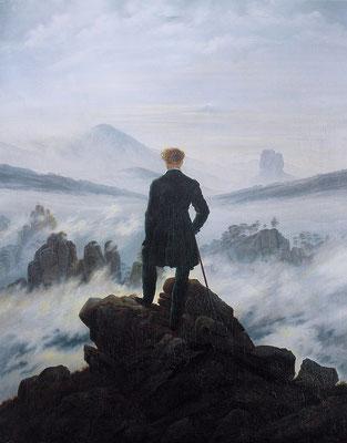 Wanderer über dem Nebelmeer - Caspar David Friedrich (Foto: CC0) - Praxis für Psychotherapie, Barbara Schlemmer, Dipl. Psychologin