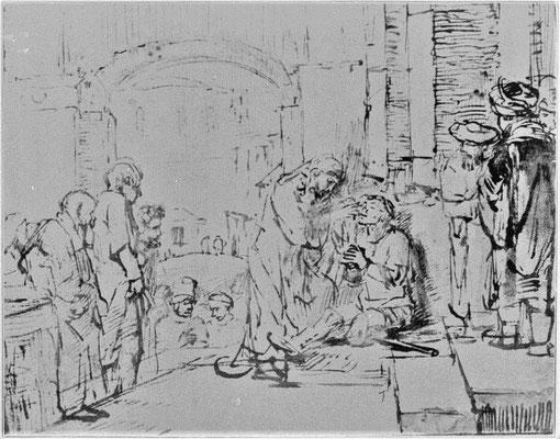 Heilung des Blinden - Rembrandt (Foto: CC0) - Praxis für Psychotherapie, Barbara Schlemmer, Dipl. Psychologin