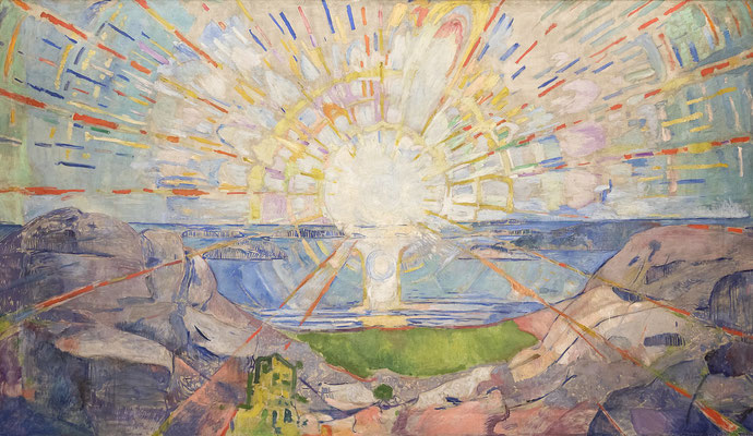 Die Sonne - Edvard Munch (Foto: CC0) - Praxis für Psychotherapie, Barbara Schlemmer, Dipl. Psychologin
