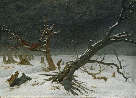 Winterlandschaft - Caspar David Friedrich (Foto: CC0) - Praxis für Psychotherapie, Barbara Schlemmer, Dipl. Psychologin