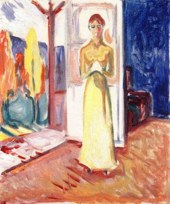 Frau an der Türschwelle stehend - Edvard Munch (Foto: CC0) - Praxis für Psychotherapie, Barbara Schlemmer, Dipl. Psychologin