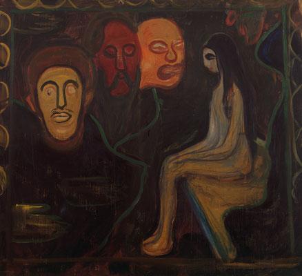 Mädchen und drei Männerköpfe - Edvard Munch (Foto: © Kunsthalle Bremen - Der Kunstverein in Bremen CC BY-NC-SA https://creativecommons.org/licenses/by-nc-sa/4.0/) - Praxis für Psychotherapie, Barbara Schlemmer, Dipl. Psychologin