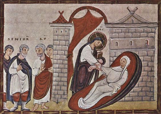Auferweckung der Tochter des Jairus - Codex Egberti (Foto: CC0) - Praxis für Psychotherapie, Barbara Schlemmer, Dipl. Psychologin
