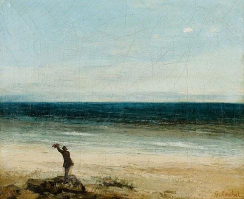 Meeresstrand bei Palavas - Gustave Courbet (Foto: CC0) - Praxis für Psychotherapie, Barbara Schlemmer, Dipl. Psychologin