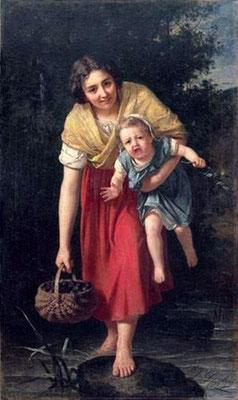 Junge Mutter mit ihrem Kind - Alexandre-Jacques Chantron (Foto: CC0) - Praxis für Psychotherapie, Barbara Schlemmer, Dipl. Psychologin