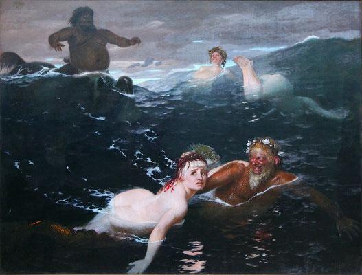Im Spiel der Wellen - Arnold Böcklin (Foto: CC0) - Praxis für Psychotherapie, Barbara Schlemmer, Dipl. Psychologin
