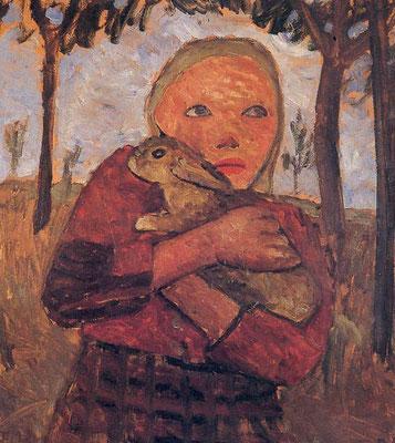 Mädchen mit Kaninchen - Paula Modersohn-Becker (Foto: CC0) - Praxis für Psychotherapie, Barbara Schlemmer, Dipl. Psychologin