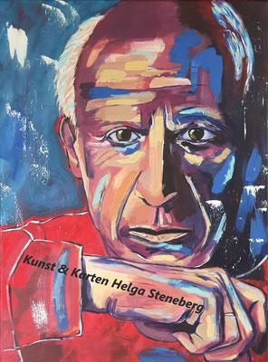 Pablo Picasso, Acryl auf LW, 80x60