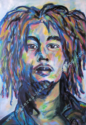 Bob Marley, Acryl auf LW, 90x60
