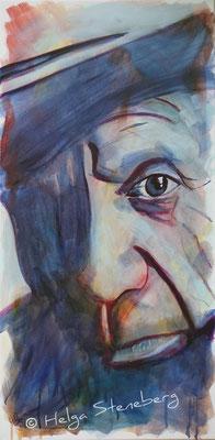Pablo Picasso, Acryl auf LW, 80x40