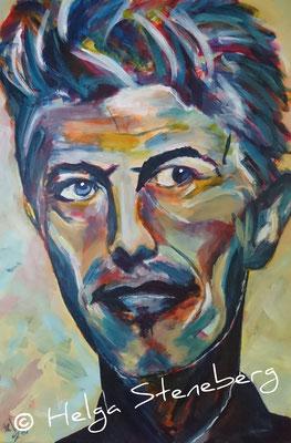David Bowie, Acryl auf LW, 60x40