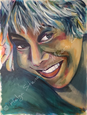 Tina Turner, Acryl auf LW, 80x60