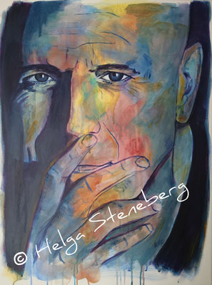 Bruce Willis, Acryl auf LW, 80x60