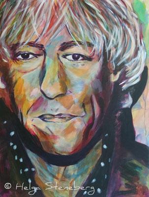Bob Geldof, Acryl auf LW, 80x60