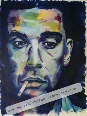 Robbie Williams, Acryl auf LW, 80x60