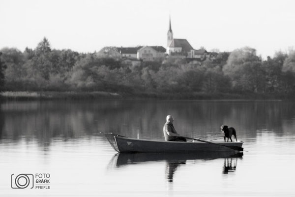 Boot im Abtsdorfer See