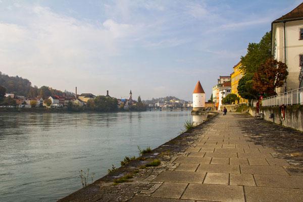 Passau, Inn, Schaiblingsturm