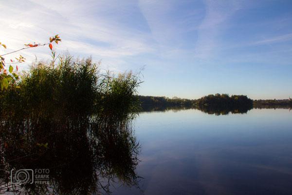 Abtsdorfer See am Abend