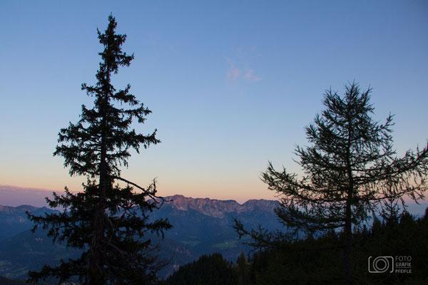 Sonnenaufgang am Rossfeld