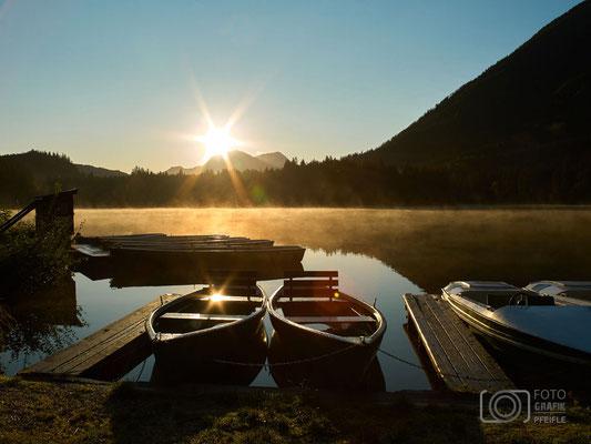 Hintersee - Boote- Sonnenaufgang