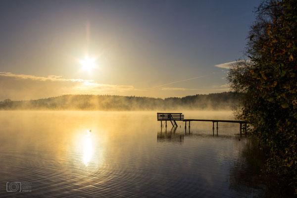 Sonnenaufgang mit Steg