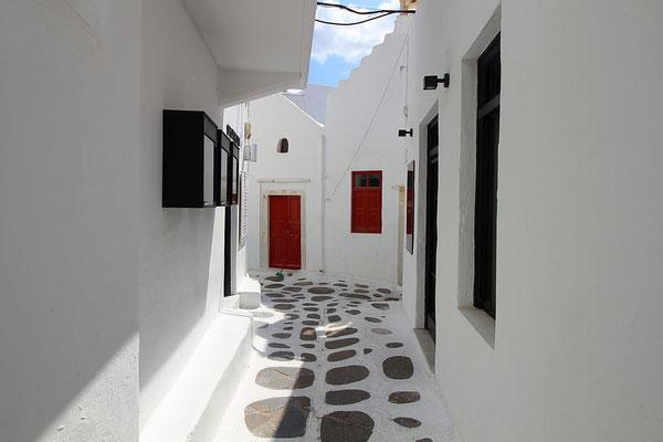 Die Gassen von Santorini