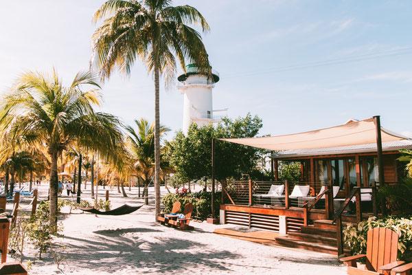 Private Cabanas auf Harvest Caye (gegen Aufpreis)