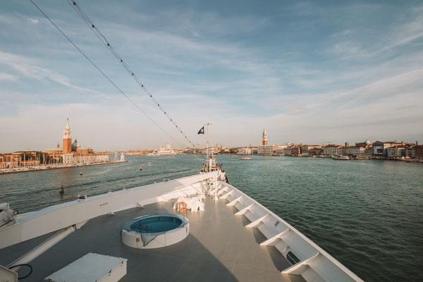 Einlaufen in Venedig